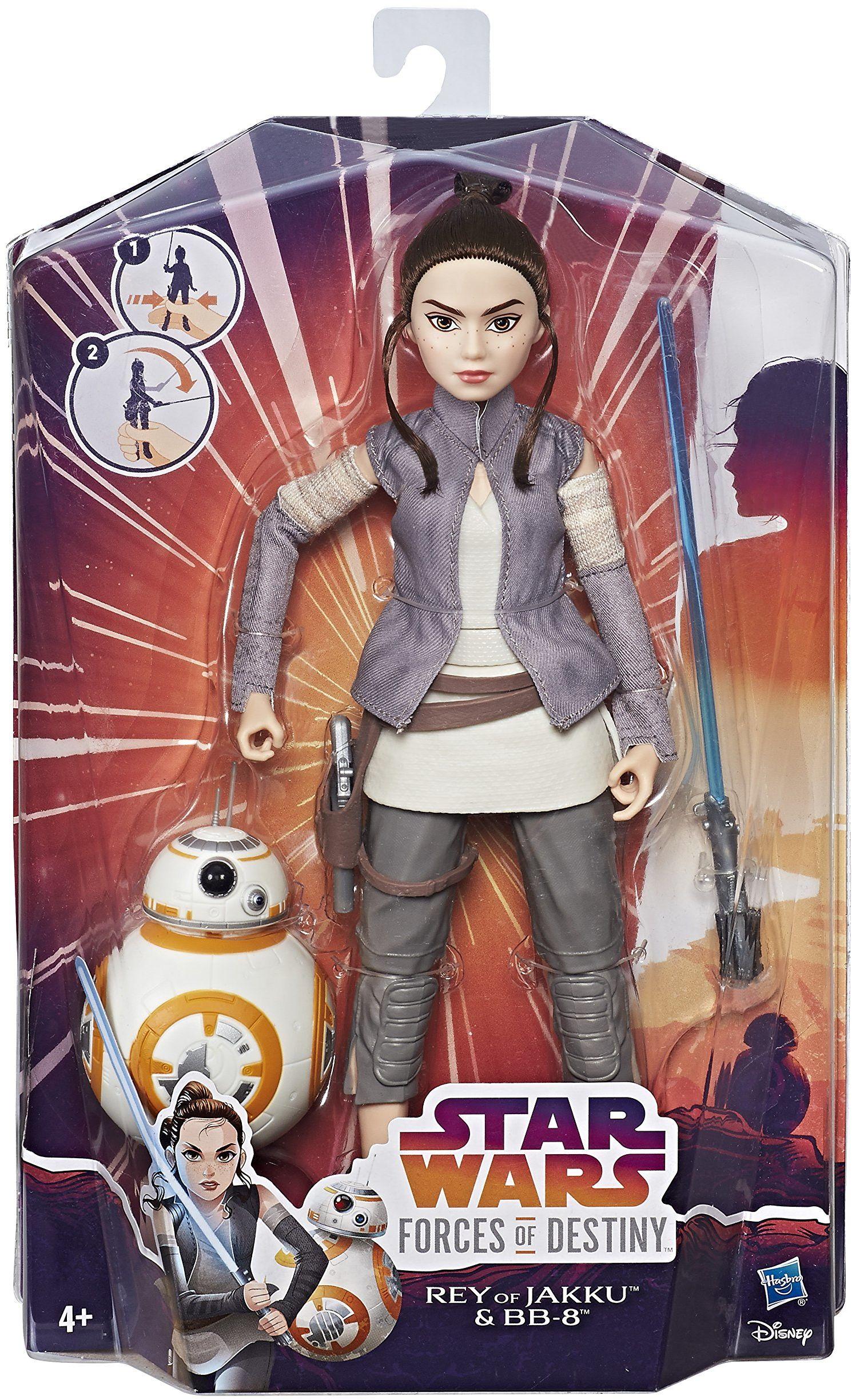 Hasbro Star Wars C1628ES0 - Moc Schicksals 11 cali Deluxe Action lalki zestaw 2 szt. - Rey i BB8, figurki akcji