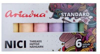 Zestaw nici Talia 120/200mb 6 kolorów PASTEL Ariadna