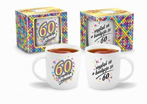Kubek na 60 urodziny Wszystkiego Najlepszego