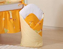 MAMO-TATO Rożek niemowlęcy usztywniony Ślimaki pomarańczowe