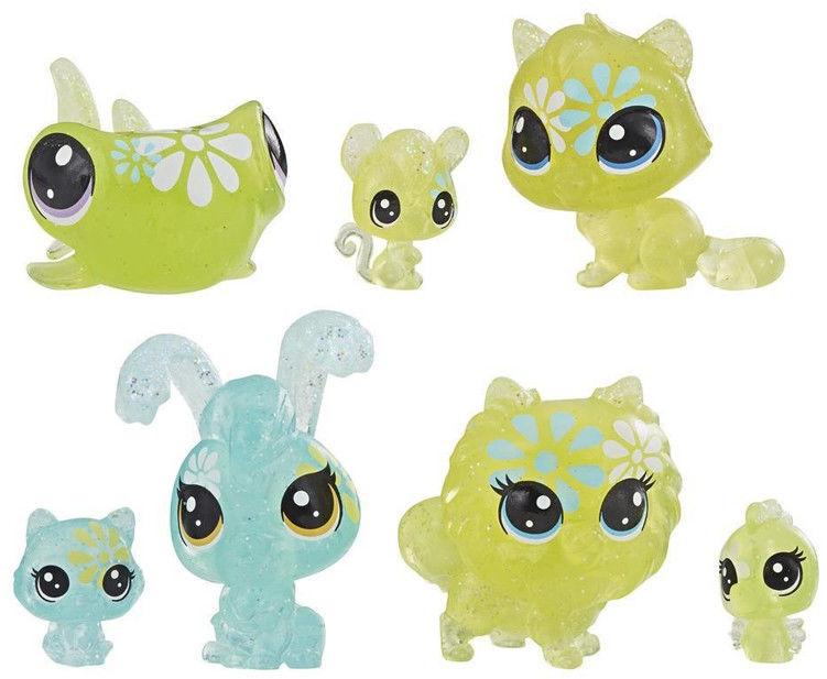 Littlest Pet Shop - Kwiatowe figurki Stokrotkowe przyjęcie 7-pak zwierzaków E5165