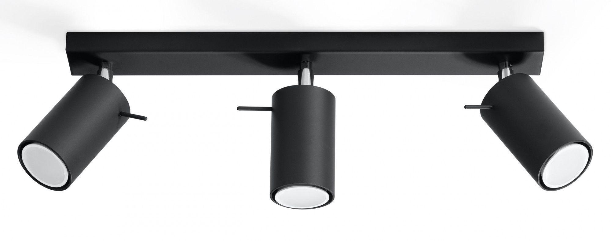 Designerski plafon halogenowy E783-Rins - czarny