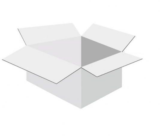 Karton klapowy tekt 5 - 350 x 280 x 150 biały 700 g/m2 fala BC