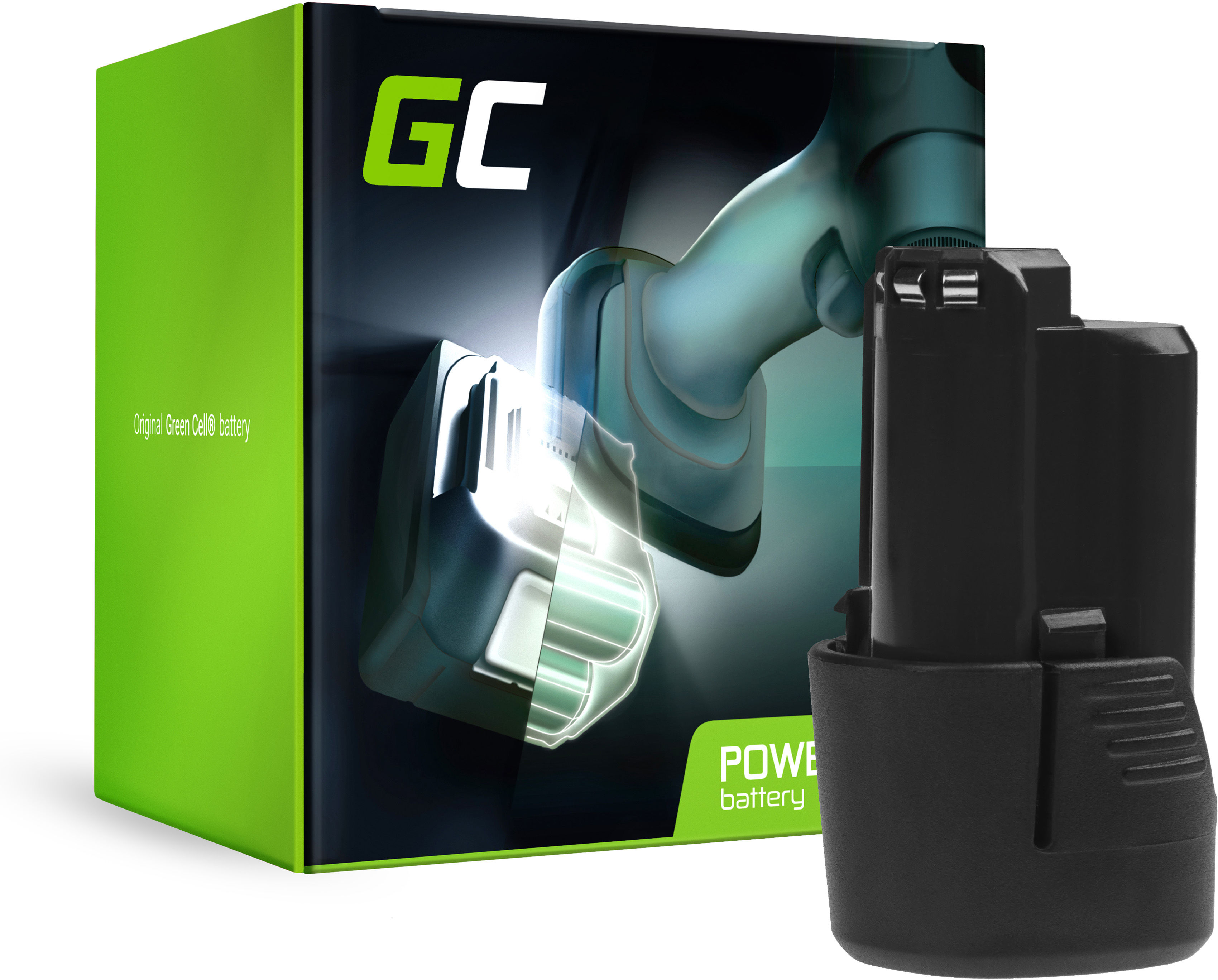 Bateria Green Cell (2Ah 10.8V) GBA 12V 2607336333 D-70745 2607336013 BAT414 do Bosch GAS GLI GSR 10.8V-LI 10.8V-LI