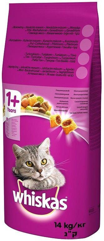 WHISKAS Adult 7kg - sucha karma dla kotów z kurczakiem i warzywami