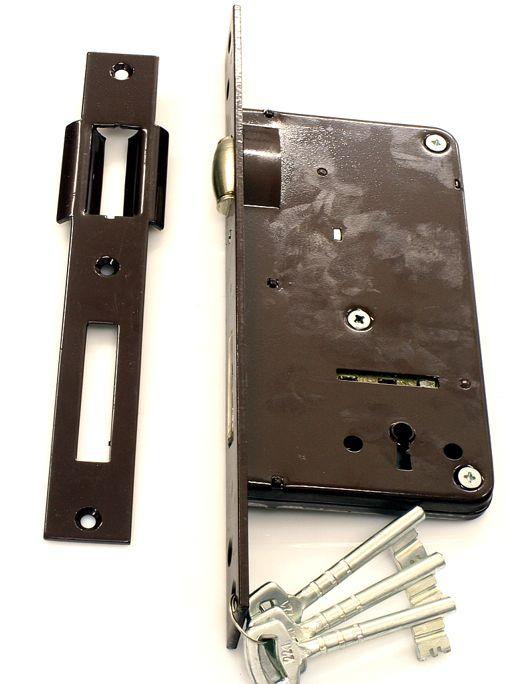 Zamek wpuszczany bramowy METALPLAST rolka na klucz