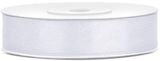 Tasiemka satynowa 12mm biała 25m 1szt. TS12-008