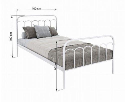 Łóżko Merina metalowe