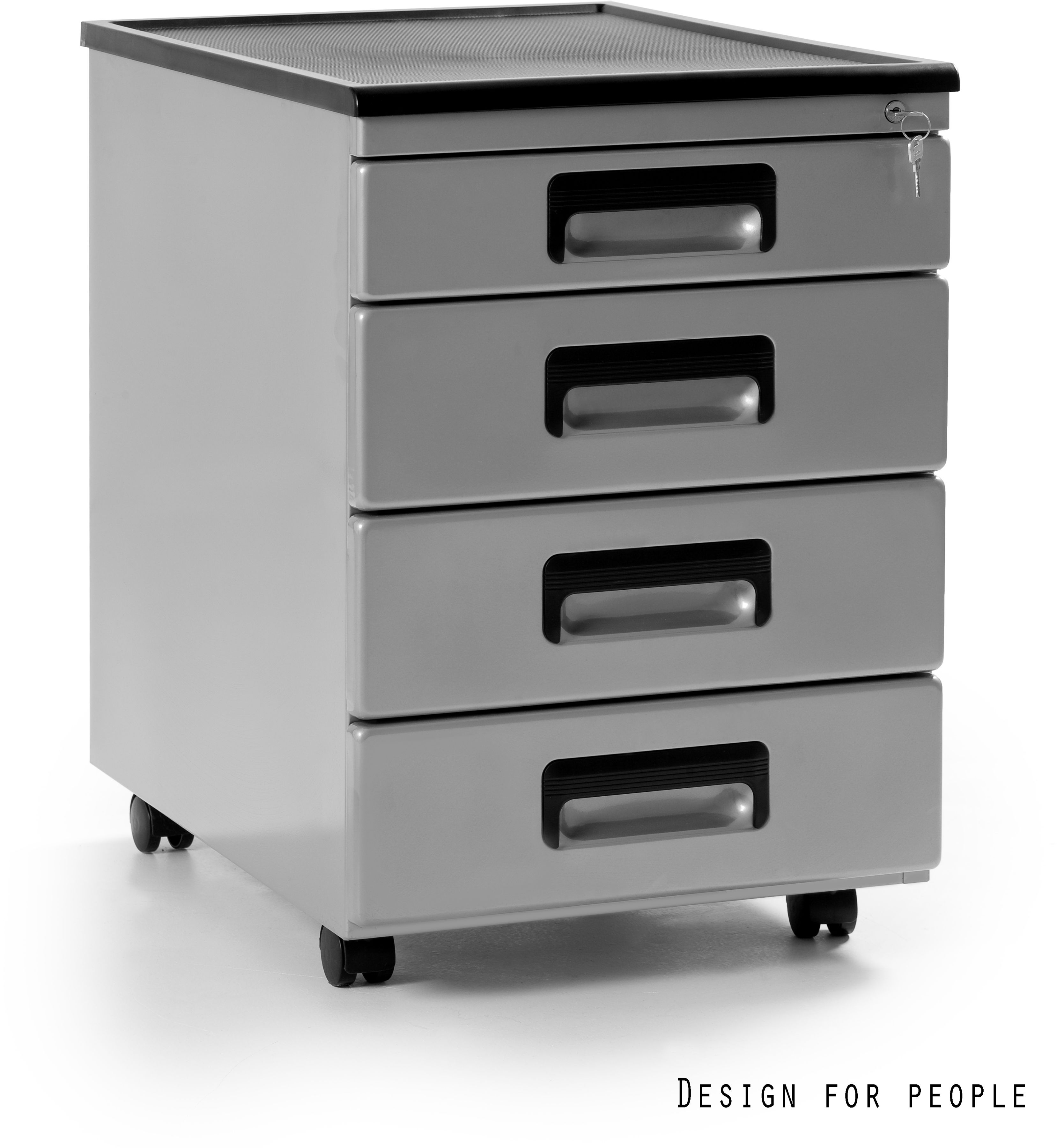 Kontener biurowy 40x56x58 cm 325-S srebrny