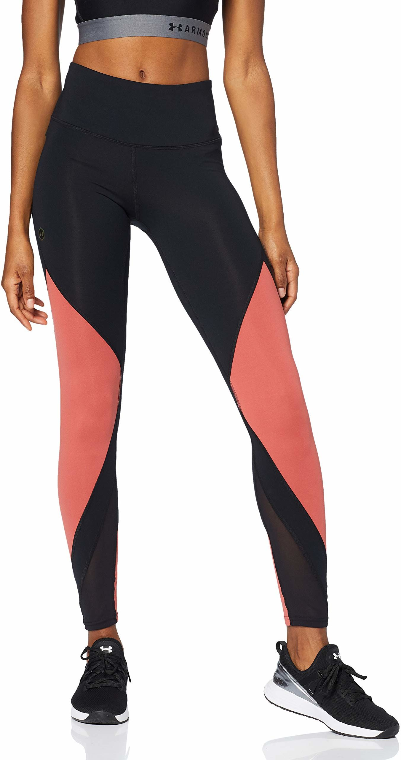 Under Armour damskie legginsy szczytu Black/Fractal Pink/Black (003) XS