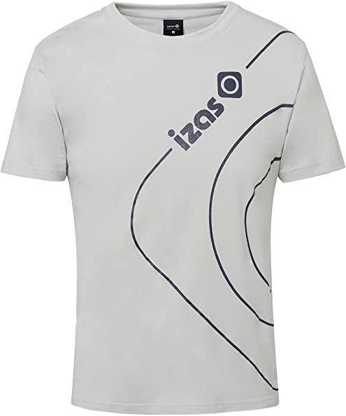 IZAS męska koszulka bawełniana z krótkim rękawem Silver/Blue Moon L