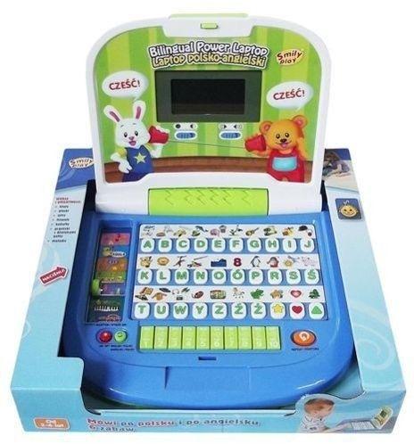 Laptop Dwujęzyczny Mądra Główka SMILY PLAY 8030