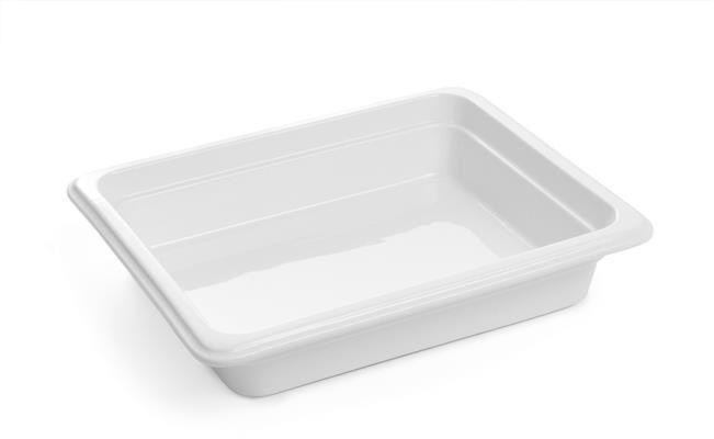 Pojemnik GN 1/2, gł. 6,5 cm porcelanowy biały