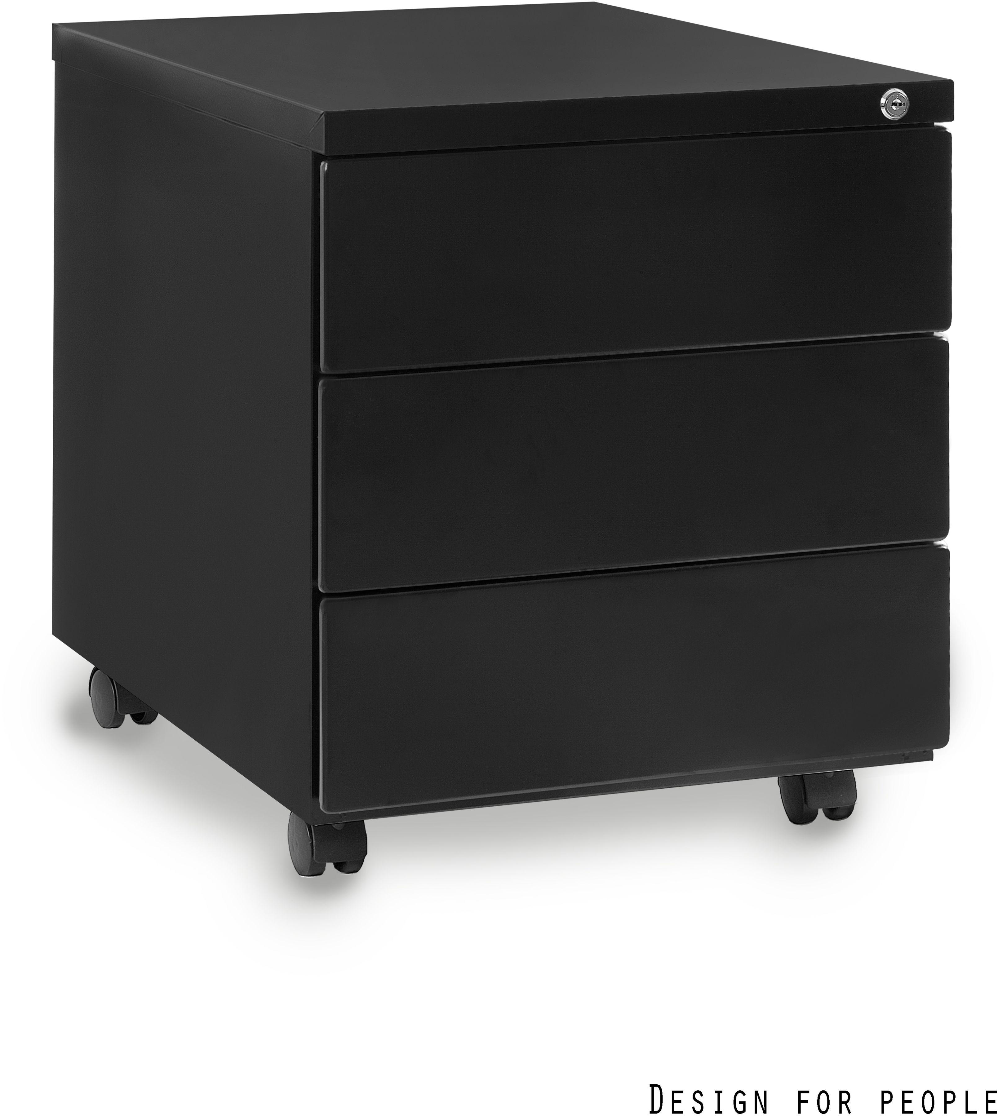Kontener biurowy 39x55x48 cm 424-B czarny