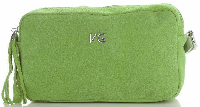 Torebki Skórzane Listonoszki firmy Vittoria Gotti Jasno Zielone (kolory)