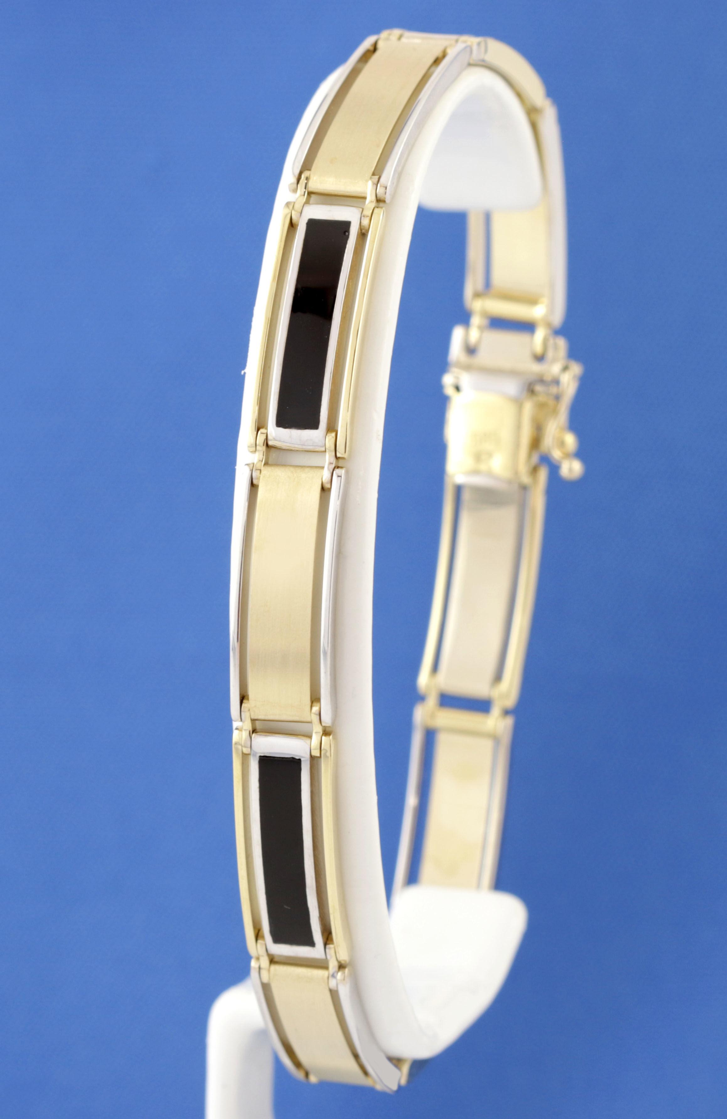 Bransoletka złota męska pr.585. 21.5 cm