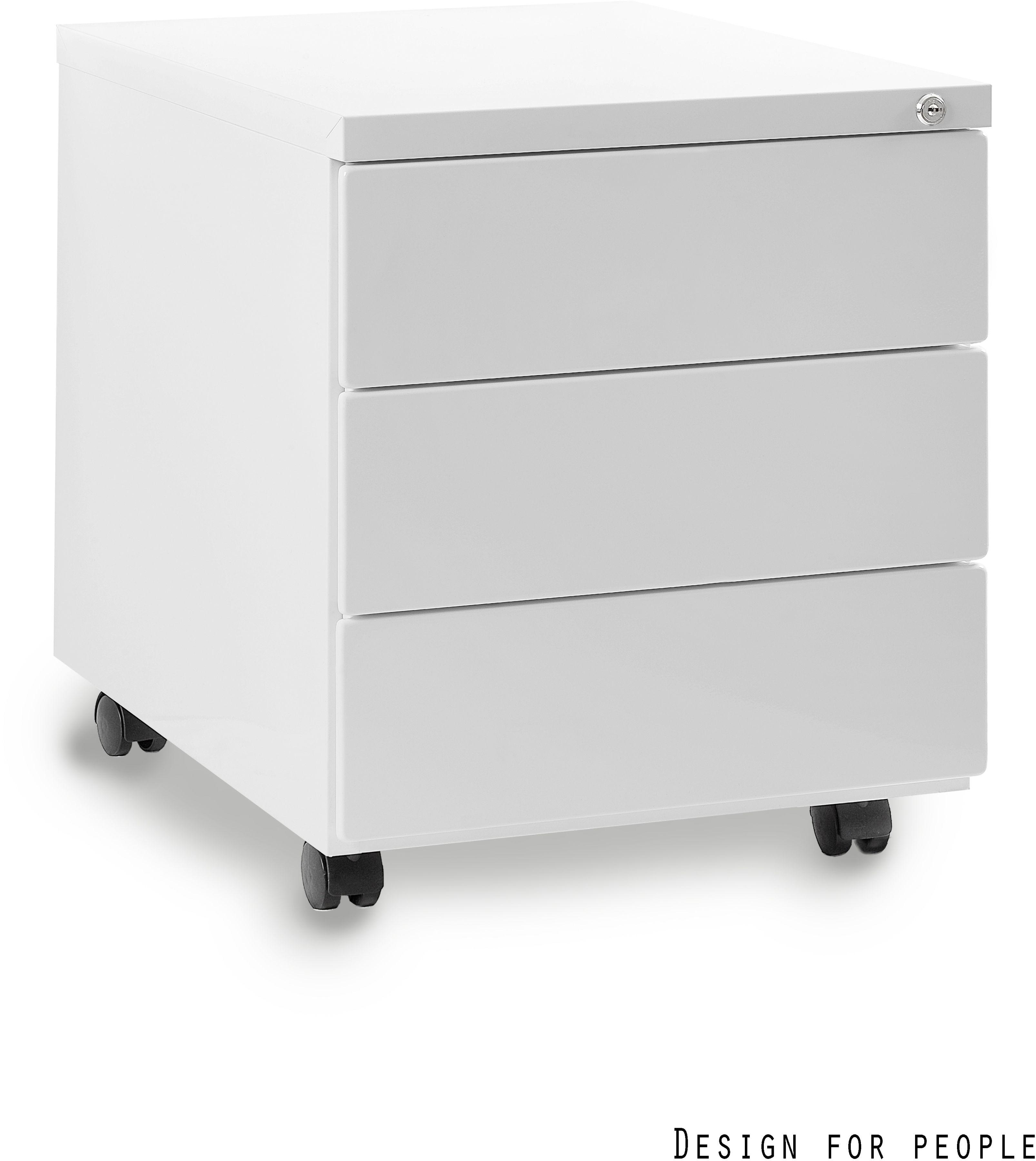 Kontener biurowy 39x55x48 cm 424-W biały
