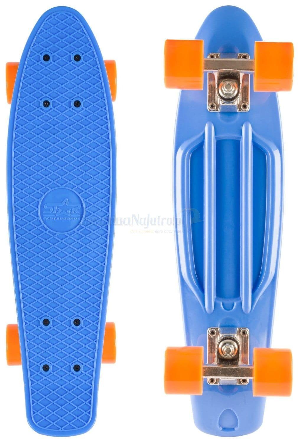 Deskorolka Retro Blue Orange Bike Star