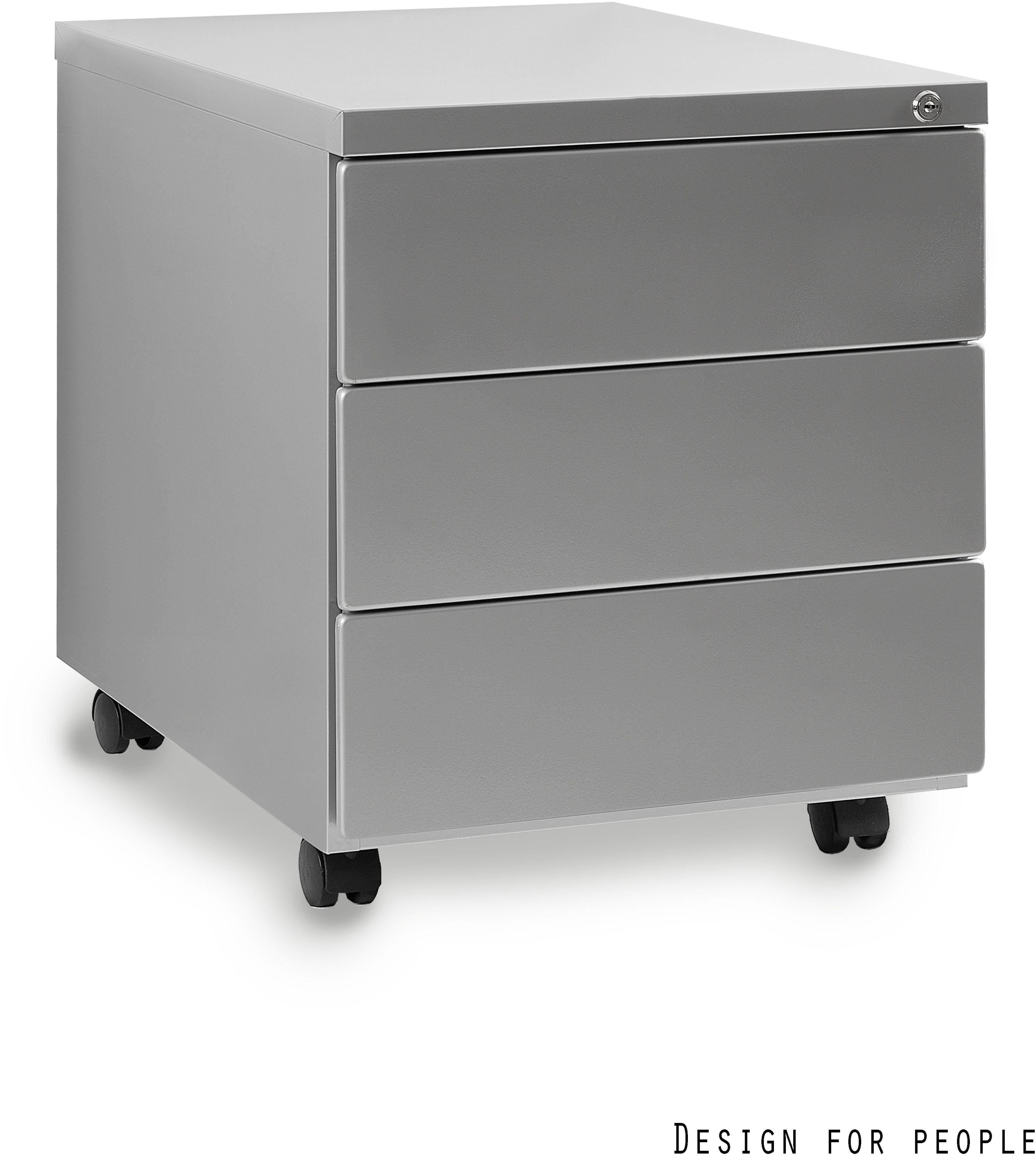 Kontener biurowy 39x55x48 cm 424-S srebrny