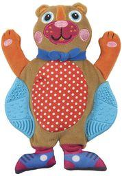 Oops Little Helper 2 w 1 podwójna faktura gryzak i miękka zabawka w kształcie słodkiego niedźwiedzia (wielokolorowy)