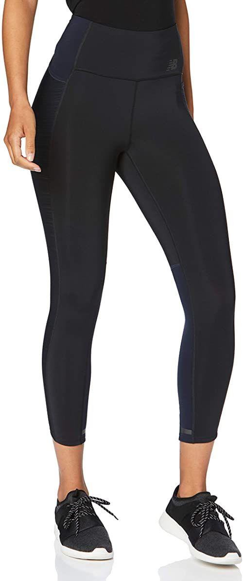 New Balance damskie spodnie Speed Tight  czarne, srebrne czarny czarny M