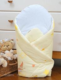 MAMO-TATO Rożek niemowlęcy usztywniony Zamek kremowy