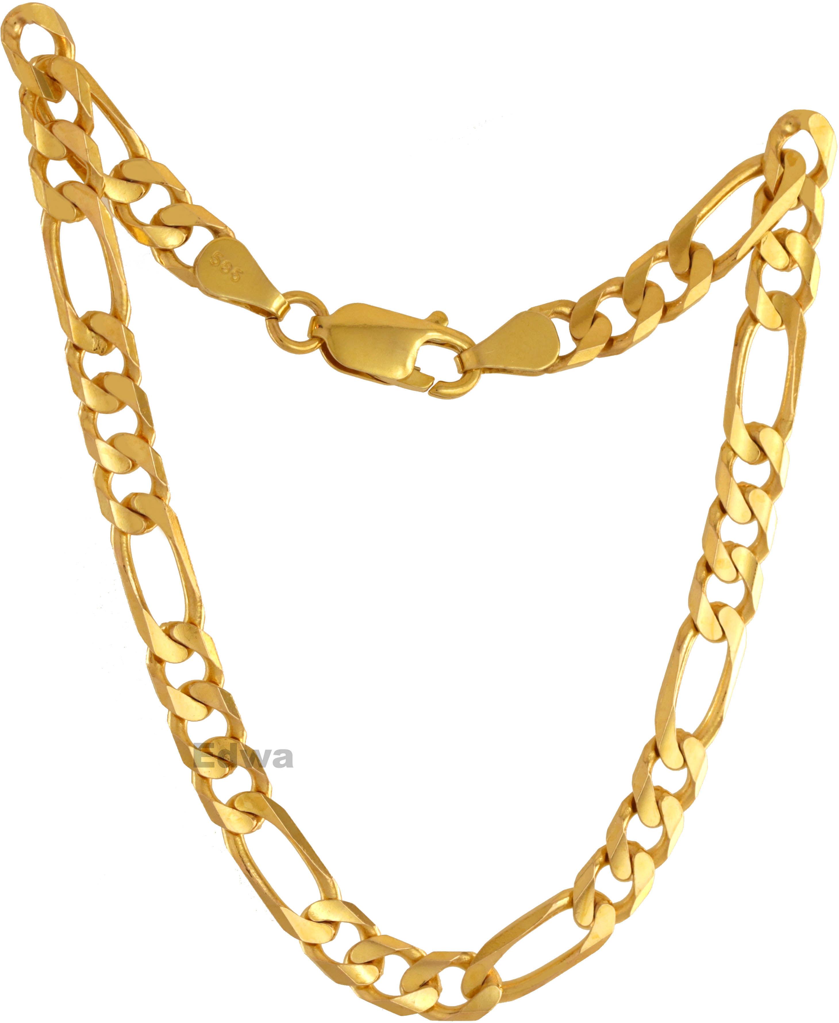 Bransoletka złota Figaro, męska pr.585 23 cm