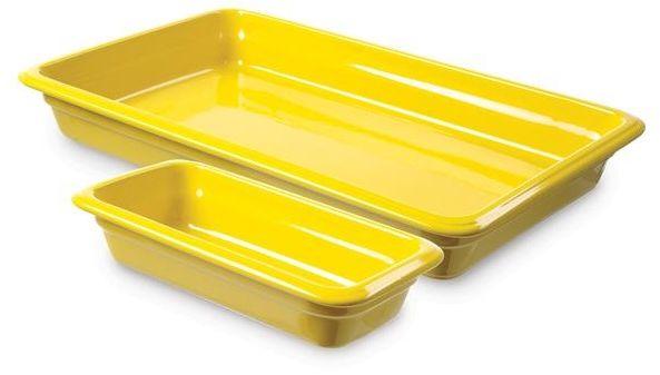 Pojemnik GN 2/3, gł. 6,5 cm porcelanowy żółty
