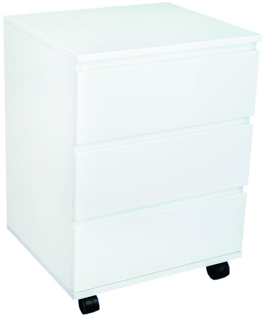 Kontener biurowy 46,5x40x62 cm JSGW-010 biały