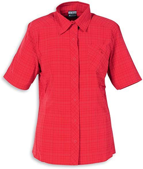 Tatonka damska bluzka Marti Short Sleeve Shirt, hot coral, 44, C161