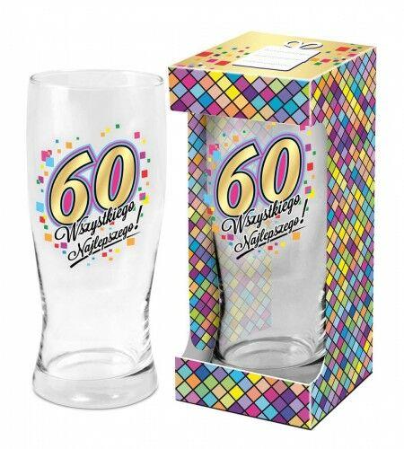 Szklanka do piwa na 60 urodziny Wszystkiego Najlepszego