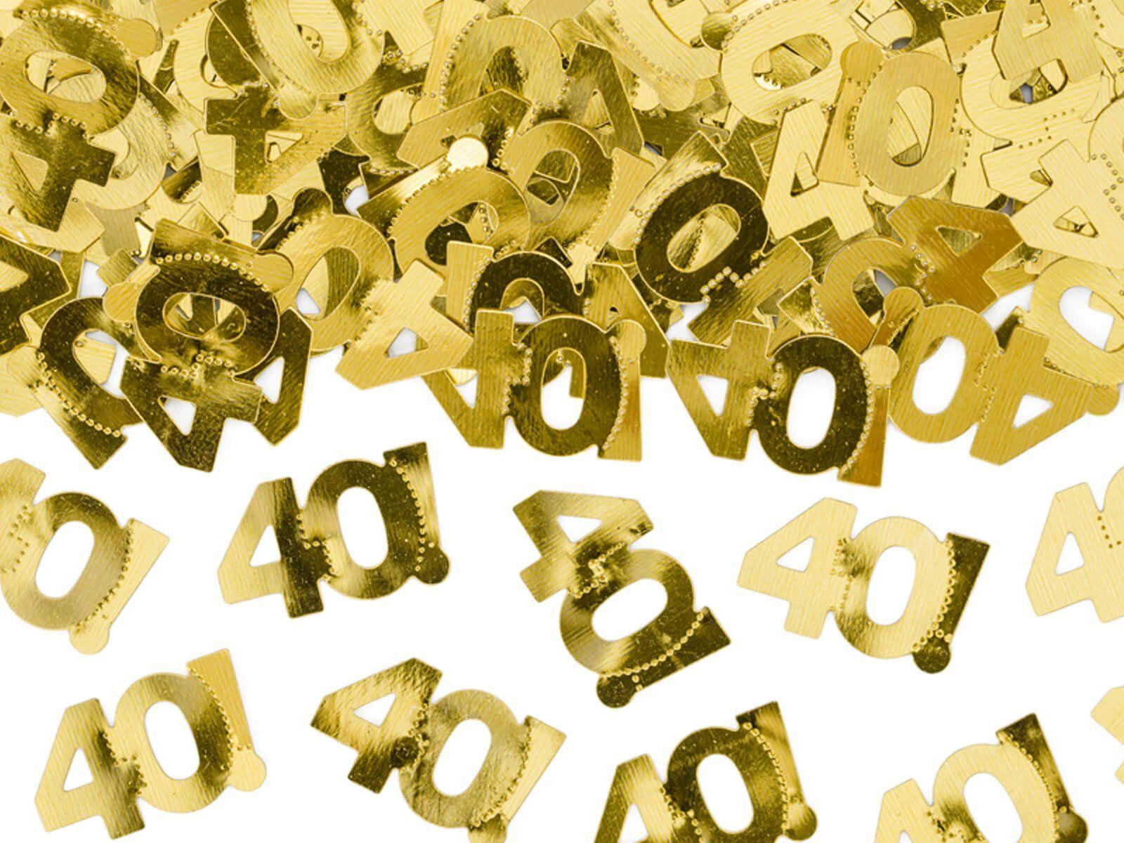 Konfetti metaliczne złote 40 - 15 g.