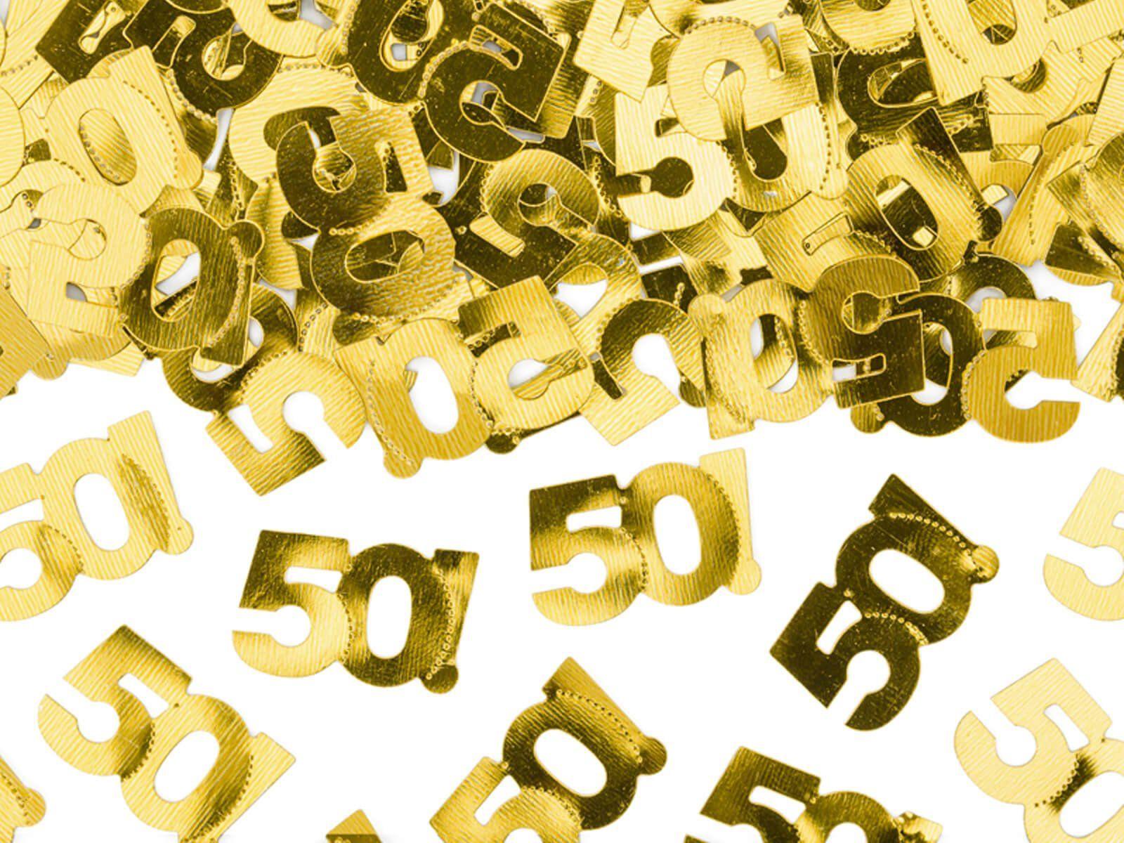Konfetti metaliczne złote 50 - 15 g.