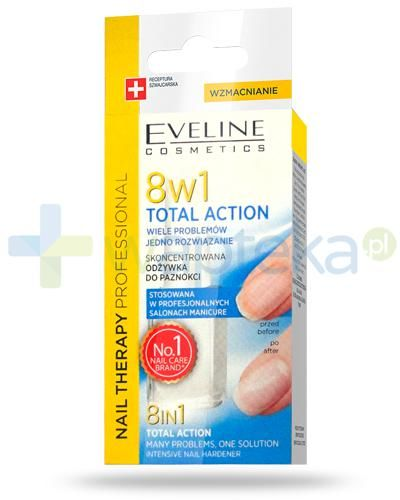 Eveline Nail Therapy Total Action 8w1 skoncentrowana odżywka do paznokci 12 ml