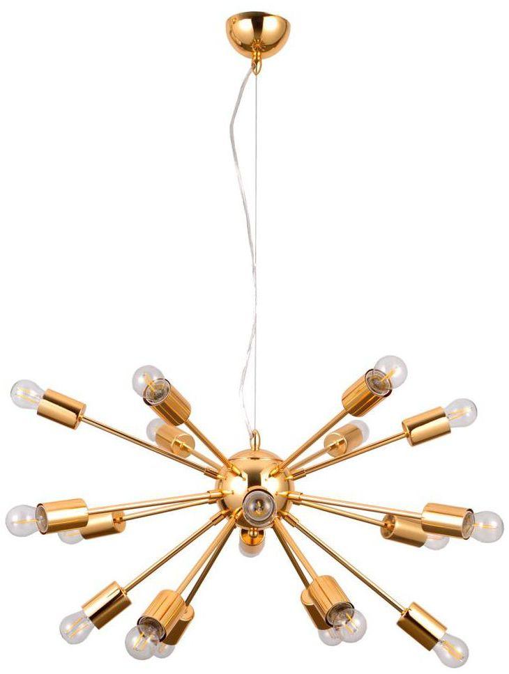 Lampa wisząca Theo złota E27 Italux