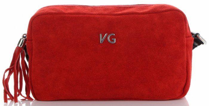Torebki Skórzane Listonoszki firmy Vittoria Gotti Czerwone (kolory)