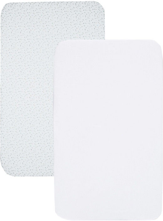 Chicco Next2Me- Light grey 2 szt prześcieradło do łóżeczka