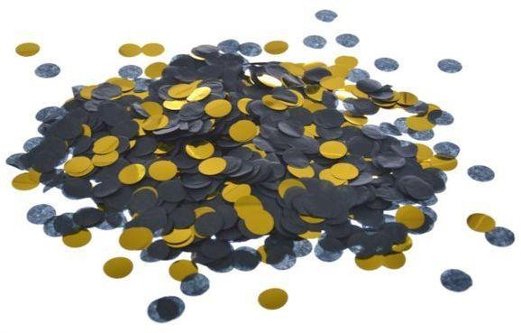 Konfetti kółka złote i czarne 15g K2541ZŁ-CZA