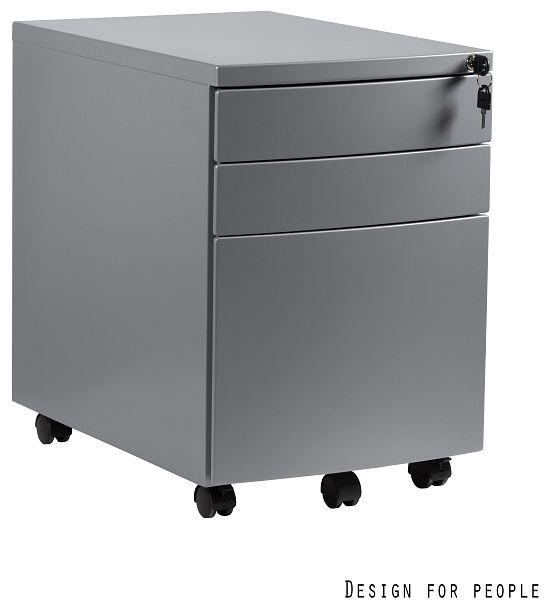 Kontener biurowy 39x56x56 cm RP-01-S srebrny