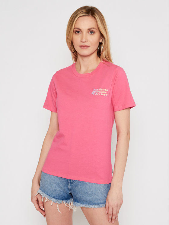 Converse T-Shirt Exploration Team 10022260-A03 Różowy Standard Fit