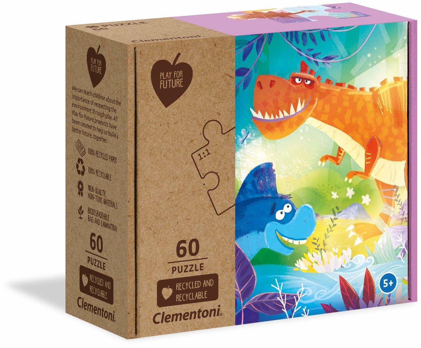 Clementoni 26998 dziwni przyjaciele - 60 sztuk - wyprodukowano we Włoszech - 100% materiały z recyklingu, puzzle dla dzieci