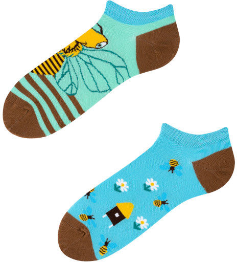 Stopki, Bee Paradise Low, Todo Socks, Pszczoły, Miód, Ul, Kolorowe