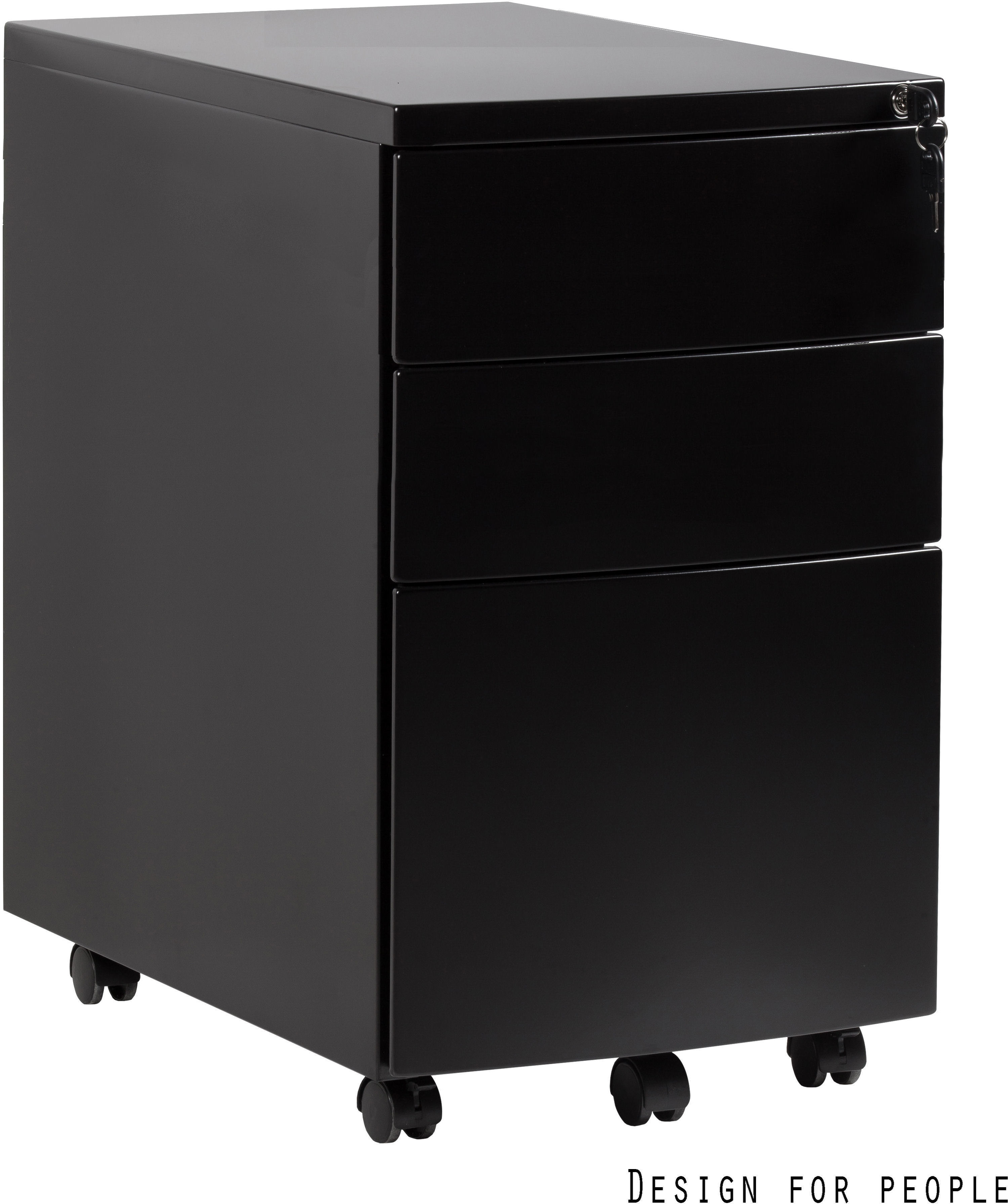 Kontener biurowy 39x56x64 cm RPH-01-B czarny