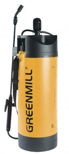 Opryskiwacz ciśnieniowy z manometrem  z akcesoriami  8 l greenmill