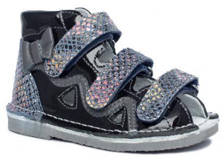 BARTEK 11686-V042 kapcie / sandały profilaktyczne dziewczęce - czarny