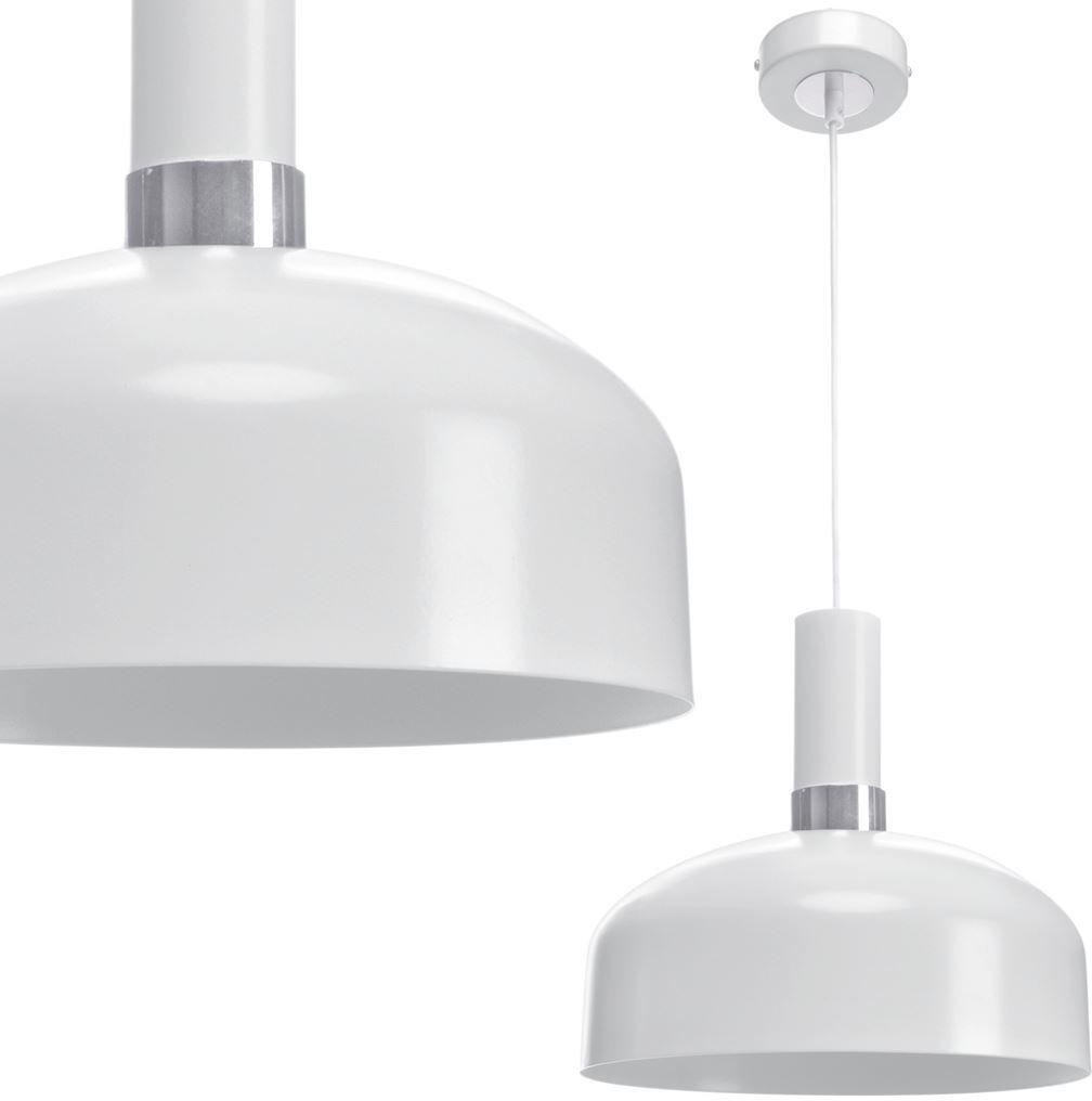 Milagro MALMO WHITE/CHROME MLP6202 lampa wisząca metalowy klosz biały 1xE27 30cm