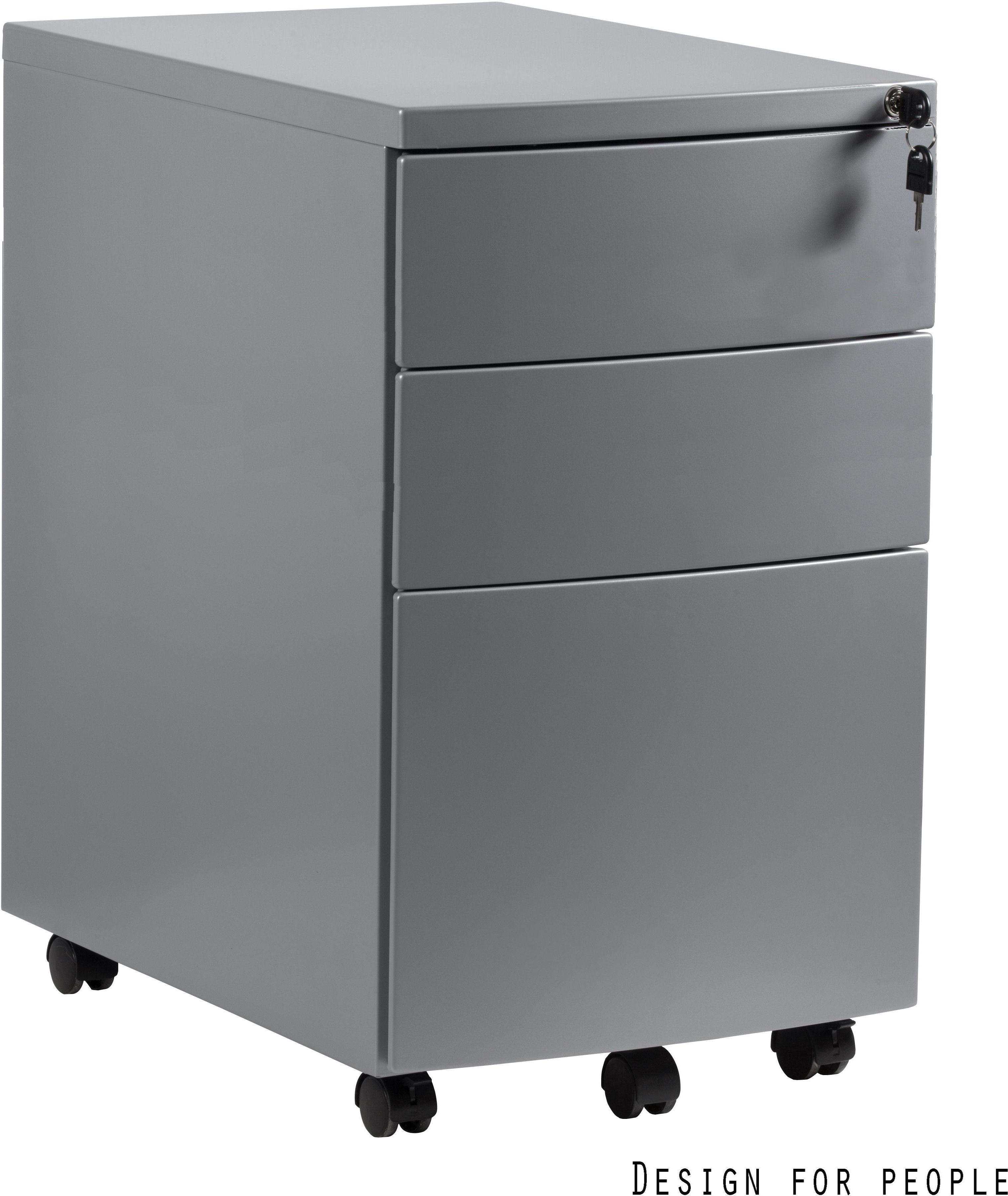 Kontener biurowy 39x56x64 cm RPH-01-S srebrny
