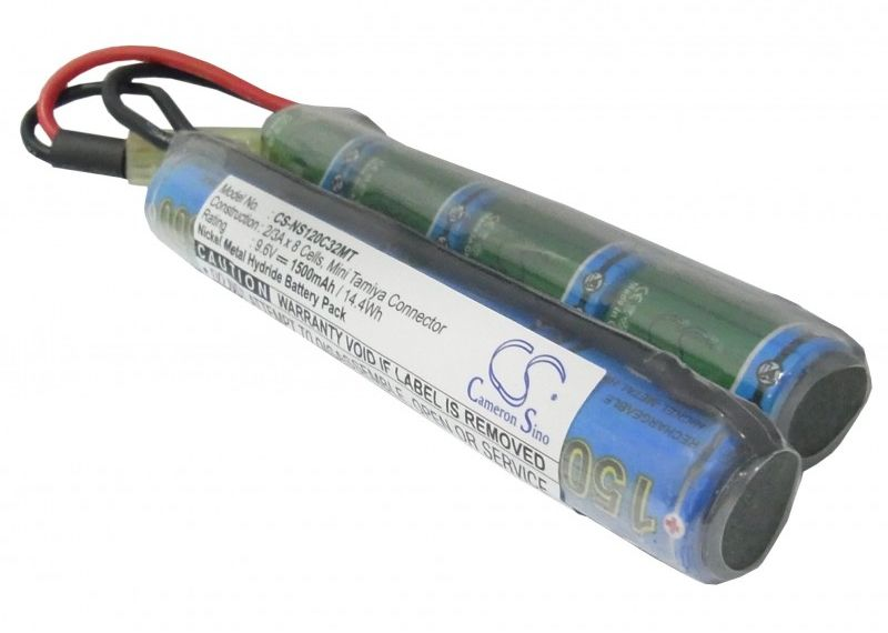 1500mAh 14.40Wh Ni-MH 9.6V 8S 2/3A Mini Tamiya (Cameron Sino)