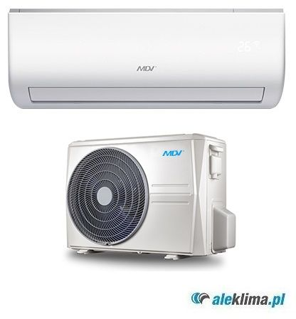 MDV Klimatyzator ścienny 3,5 kW MSAEBU-12HRFN1-QRD0GW MDV All Easy (komplet)