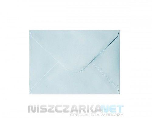 Koperta / koperty ozdobne C6 - GŁADKI NIEBIESKI opk 10szt 130g/m2